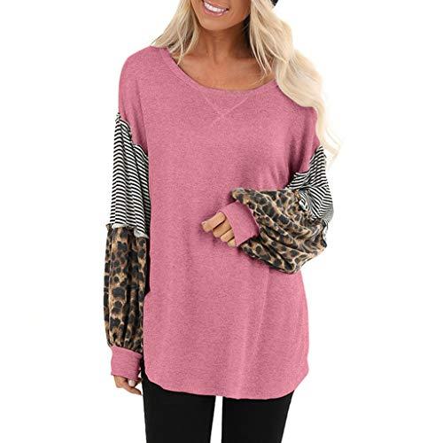 Luoluoluo trui dames luipaard winter sweatshirt lange gram T-shirt meisjes vrouwen blouse basic bovenstuk los jumper 10 kleuren