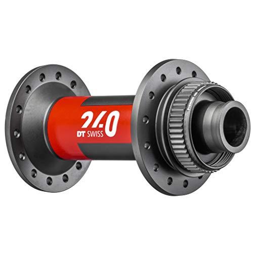 DT Swiss 240 Front Hub - 15 x 110mm, Center Lock, 32h, Black/Red