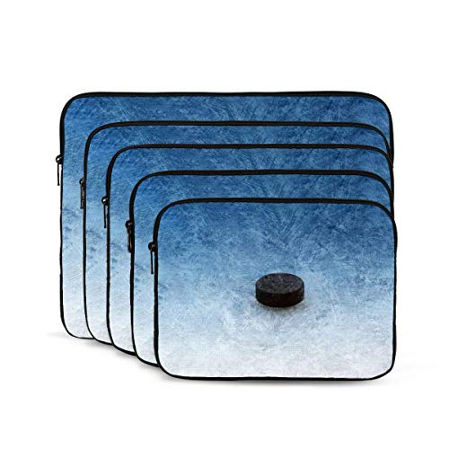 Ice Hockey Print Laptop Sleeve, Shock Resistant Notebook Briefcase, Tablet Carrying Case for MacBook Pro/MacBook Air/Asus/Dell/Lenovo/Hp/Samsung 17 inch