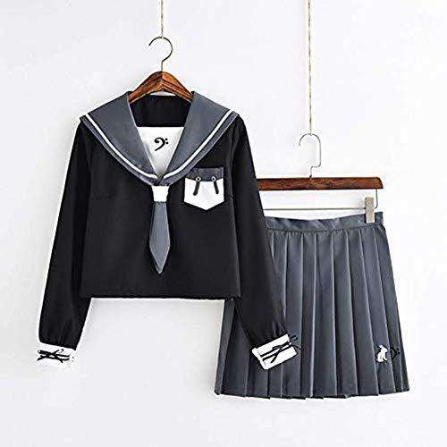 Japon Fille Haute école Cosplay Costume Uniforme Doux Lapin JK Uniforme Graduation Classe Costume Costume Marin Jupe (+ Jupe En Haut) Skirt suit-L