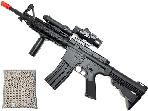 Airsoft Rifle M4 Style Electric AEG Gun Full Auto Well D92H with Battery & Charger Free 1000 Bulldog Airsoft 6mm BBS