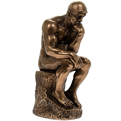 Cold Cast Bronze Statue of the Thinker – Inspired by Le Penseur by Auguste Rodin