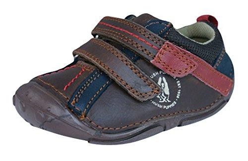 Hush Puppies Tad Infant/baby-eerste wandeler-lederen schoenen.