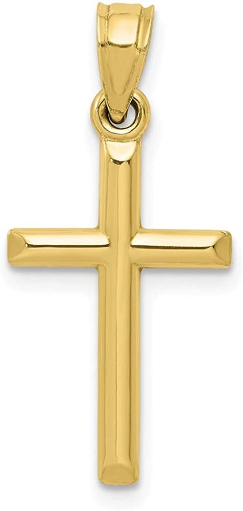 10k Polished Hollow Cross Pendant 19mm 11.77mm style 10C1344
