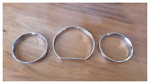 NB YULUBAIHUO Chrome Tacho Messuhr Ring Instrumententafel Ring gepasst for Mercedes-Benz W124 W126