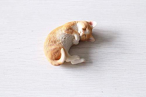 OGUAN Animal Statue Decoration Sculpture Ornaments Statues Sleeping Cat Simulation Kitten Model Pet Cat Resin Decoration Cute Car Accessories Gift