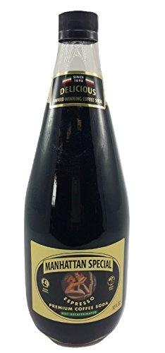 Manhattan Special Espresso Premiun Coffee Soda - Diet Decaffienated 32 oz (1 Bottle)