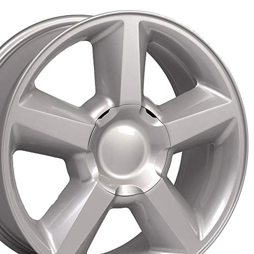 OE Wheels LLC 20 inch Rim Fits Chevy Tahoe LTZ Wheel CV83 20x8.5 Silver Wheel Hollander 5308