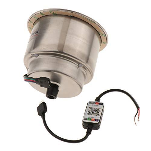 PETSOLA Tenedor de La Bebida de La Taza del Acero Inoxidable de 3 LED con El Campista Marino del Barco RV LED del DREN LED