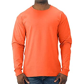 Jerzees Men s Dri-Power Long Sleeve T-Shirt Safety Orange X-Large