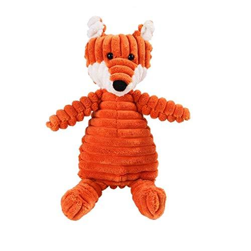 KHHGTYFYTFTY De Perro de Juguete de Felpa portátil Vocal de Perro de Juguete Molar mordedura al Diente Juguete para Mascotas Juguete Clean Fox Tipo