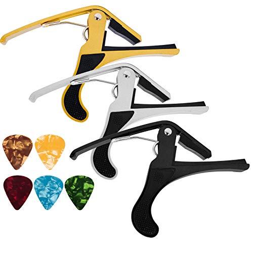 JJYHEHOT Gitarre Kapodaster, Metallkapo Sorgen Für Gleichmäßigen Druck Und Schützen Den Gitarrenhälsen (3 Stück)