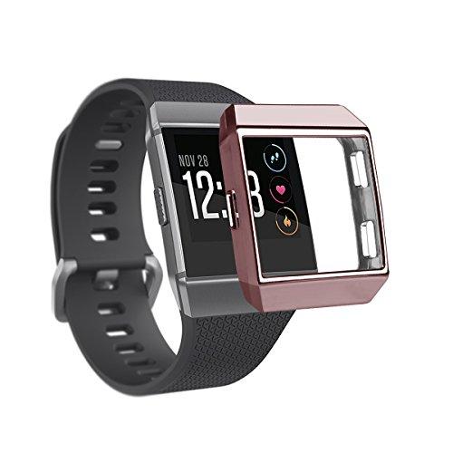 TopTen Schutzhülle für Fitbit Ionic aus weichem TPU-Kunststoff, Ersatzzubehör für die Smartwatch Fitbit Ionic. M rose gold