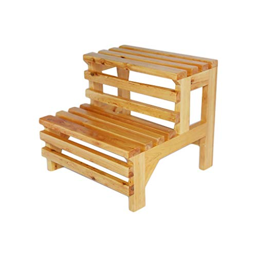 Tokyia Step Stool, Solid Wood Step Stool Barrel Bath Step Stool Footstool Easy Storage and Transport