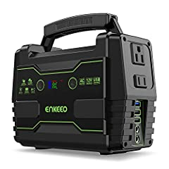 NO FUEL, NO FUMES, NO NOICE: Enkeeo outdoor green power station charger provids a different way of power supply from traditional fuel generator which is lithium battery powered. With two US standard AC outlets, three USB ports, two DC jacks, whether ...
