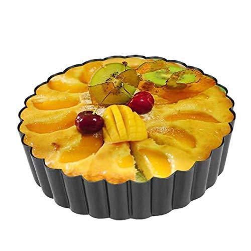 QAQGEAR Tart form Tart Pan and Quiche Pie Pizza Pan Non-Stick Amovible Fond lâche Quiche Forme Ronde Flan Flan Fruit Cake Moule 11 pouces de diamètre