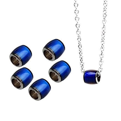oshhni Perlas Espaciadoras Termosensibles con Cambio de Color de 6 Piezas Barril de 7x7 Mm