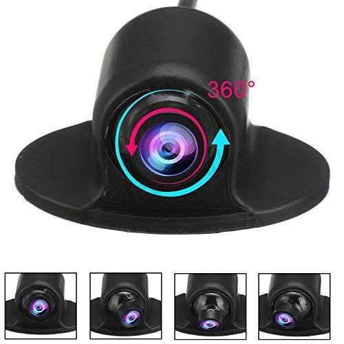 Dyoung Ega Mini CCD HD Impermeable Cámara de Copia de Seguridad del Coche Vista Lateral de UFO 360 Grados/Cámara de Vista Frontal para el Monitor de estacionamiento DVD