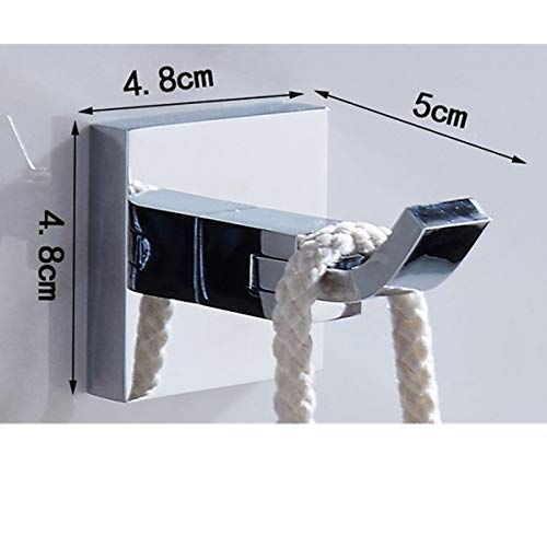 Gu3Je Bath Towel Hooks Modern Solid Brass Chrome Finish Bathroom Robe ,Punch/Punch Free Q/Model Punch
