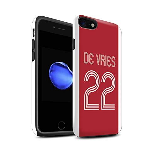 Stuff4 Telefoonhoesje/Cover/Skin/IP-3DTBG / Aangepaste Euro Football Club Shirt Kit Collectie Apple iPhone SE 2020 Rood Wit