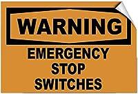 品質メタルティンサイン、警告緊急停止スイッチ、ティンサインアートアイアン塗装メタルプラークヴィンテージ壁の装飾ポスターハウスカフェレストランバー