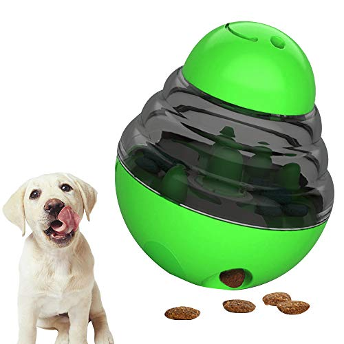 ZoneYan Pelota de Juguete para Perros, Dispenser de Premios Juguete para Perros, Juguetes Interactivos para Perros, Alimentador de Comida para Perros, Juguetes para Perros Interactivos IQ (Ver