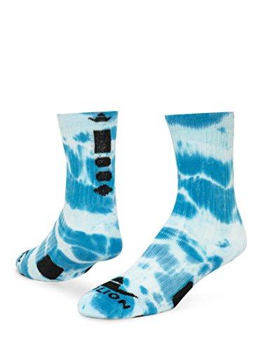 RedLion Maxim Tie Dye Athletic Socks (Neon Blue/White - Medium)