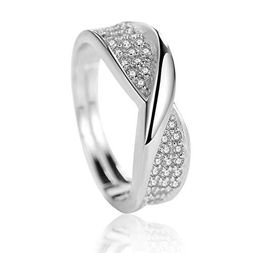 Ring ingelegd stenen ring meisje eenvoudige temperament persoonlijkheid sieraden geschikt voor verjaardagscadeautjes voor vriendinnen wit