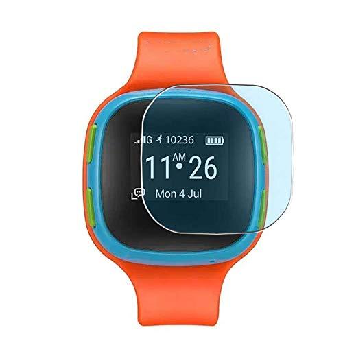 Vaxson 3 Stück Anti Blaulicht Schutzfolie, kompatibel mit Alcatel CareTime smartwatch Smart Watch, Bildschirmschutzfolie TPU Folie Displayschutz [nicht Panzerglas Hülle Hülle ]