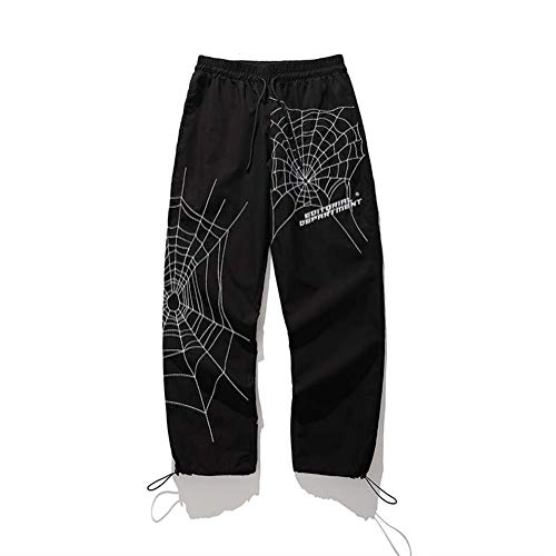 WBNCUAP Bordado Holgado Harem Pantalones Streetwear Hombres Hip Hop Pantalones Casuales Moda Pantalones Masculinos (Color : 1, Size : X-Large)