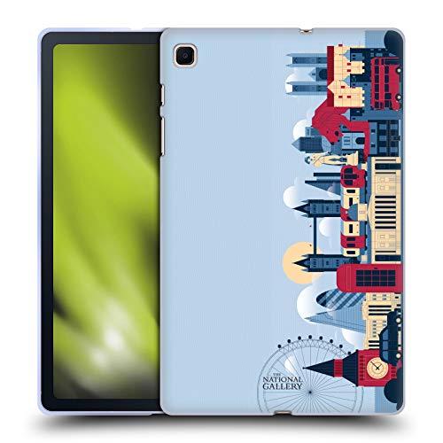 Head Case Designs Licenza Ufficiale The National Gallery London Skyline Arte Cover in Morbido Gel Compatibile con Samsung Galaxy Tab S6 Lite
