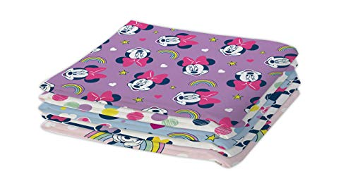 Disney Fat Quarters – Minnie Mouse (arco iris) – 5 unidades