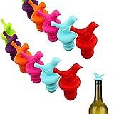 10pcs Bouchon de Bouteille de Vin, Bouchon à Vin en Silicone Réutilisables, Petit Bouchon de Bouteille de Champagne, pour Joint D'étanchéité et de Préserver Votre Vin (Couleur Aléatoire)