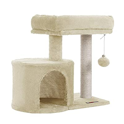 FEANDREA Cat Tree with Sisal-Covered Scratching Posts for Kitten UPCT50M