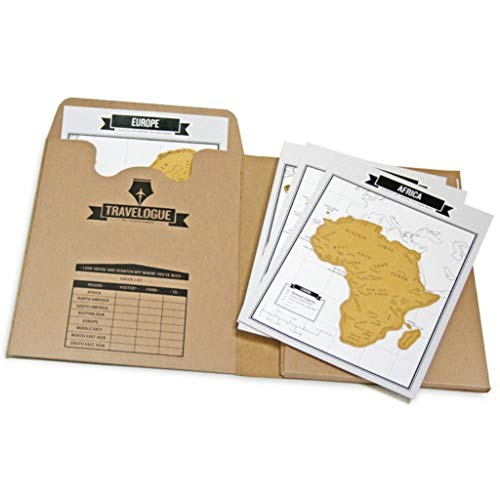 Tumao Diario de viaje y mini Mapa del Mundo para rascar (8 mapas y 64 páginas)