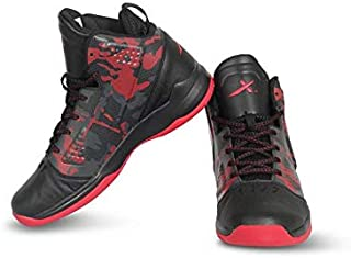Vector X BB-19 Basketball Shoes for Men's (Black-Red)