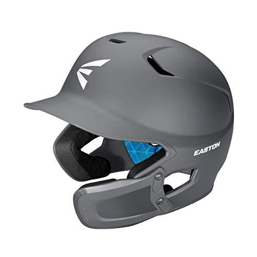 EASTON Z5 2.0 Batting Helmet w/ Universal Jaw Guard | Baseball Softball | Junior | Matte Charcoal | 2020 | Dual-Density Impact Absorption Foam | High Impact ABS Shell | Moisture Wicking BioDRI Liner