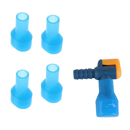 perfeclan Boquilla de Succión de ángulo para Bolsa de Agua con Interruptor + 4 Piezas