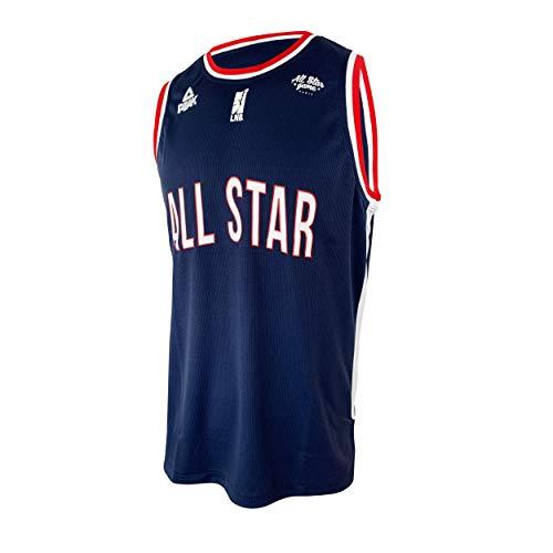 Camiseta de Baloncesto de la Liga Nacional de Baloncesto, selección Francesa All Star Game 2019, Unisex, N'est Pas Applicable, Unisex Adulto, Color Azul, tamaño XS