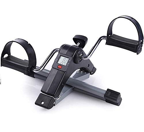 HKD SALES Mini Pedal Exercise Cycle Exerciser Bike Gym Machine Digital Display for Health Home Fitness Exercise Bike/Cycle Foldable Portable Foot, Hand, Arm, Leg Exercise Pedaling Machine