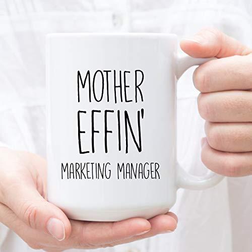 Taza de regalo para Gerente de Marketing, regalo para Gerente de Marketing, taza perfecta para cumpleaños, Acción de Gracias o Navidad, taza de café divertida de 12 onzas