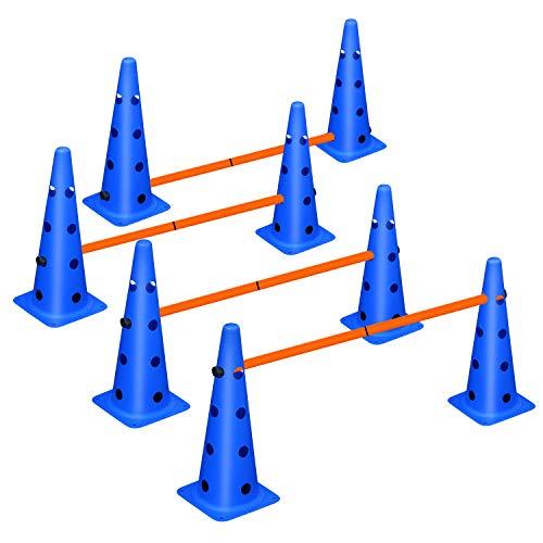XiaZ Dog Agility Hurdle Cone Set, Agility Equipments for Dog, Adjustable Agility Ladder Speed...