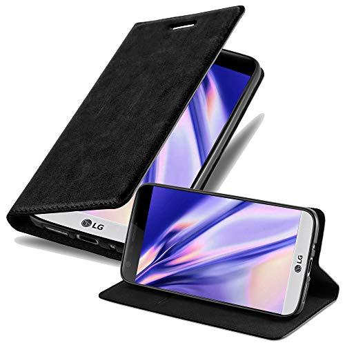 Cadorabo Custodia Libro per LG G5 in NERO DI NOTTE - con Vani di Carte, Funzione Stand e Chiusura Magnetica - Portafoglio Cover Case Wallet Book Etui Protezione