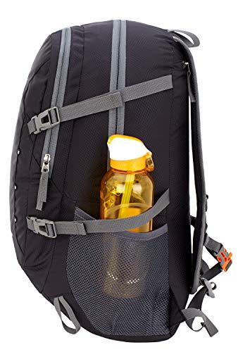 Venture Pal 40L Lightweight Packable Travel Hiking Backpack Daypack-Black