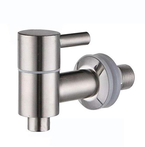 Mary´s Kitchen Tools Edelstahlzapfhahn für Getränkespender | Wasserspender | Zapfhahn | Ersatzzapfhahn | 304 Edelstahl | Drehzapfhahn | Bierhahn | 16mm