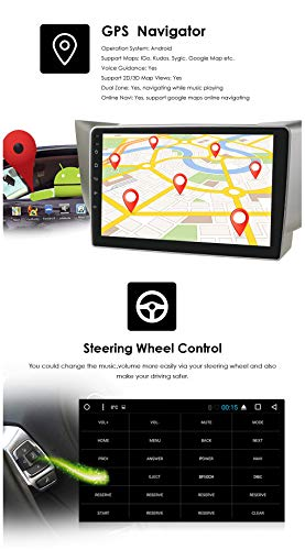 9 Inch Android 10 Car Radio Stereo for Lexus RX300 RX330 RX400H 2003-2009/Toyota Harrier 2003-2009, 2 Din GPS Navigation Support USB Connection Wheel Control Rearview Camera WiFi Bluetooth