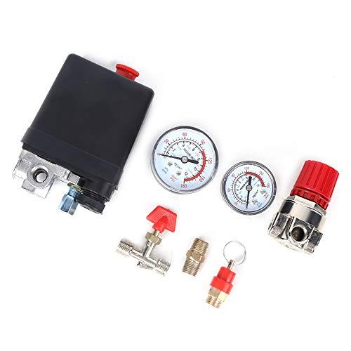Válvula de interruptor de control de presión de 4 orificios, conjunto de soporte de compresor de aire para piezas de ensamblaje de reguladores de colector de compresor de aire