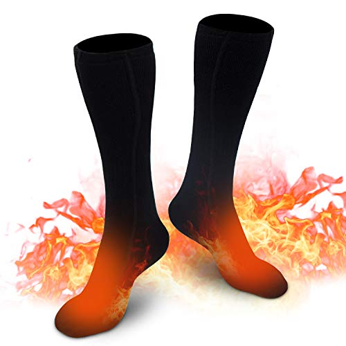 XBUTY Heated Socks for Men/Women-2020 Upgraded Rechargeable Electric Socks,Up to 16 Hours of Heat forRheumatoid Arthritis,Chronically Cold Feet,Outdoor Riding,Camping, Hiking(Black)