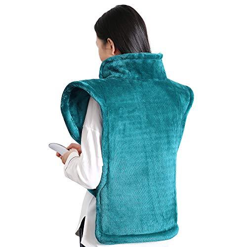 MaxKare Heizkissen für Rücken Schulter Nacken Abschaltautomatik Wärmekissen und Schneller Heiztechnologie von Rücken und Schultern Heizdecke aus Angenehmem Flanellmaterial