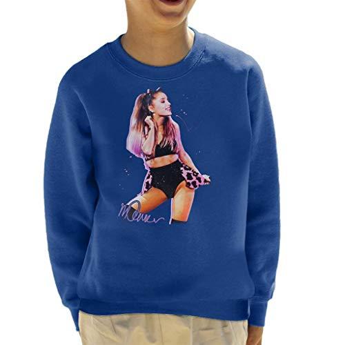Vintro Ariana Grande Katzenohren Sweatshirt für Kinder, Original-Portrait von Sidney Maurer, professionell bedruckt Gr. Large, königsblau